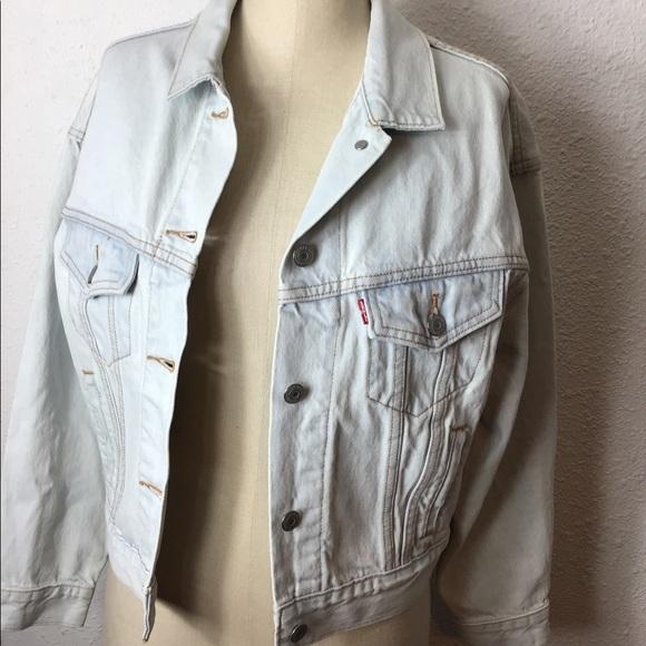 """Levi's vintage button Up BIG """"E"""" jacket size  XS"""